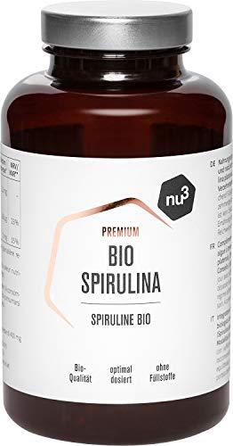 nu3 - Bio Spirulina - 200g - 500 compresse - Alghe di Spirulina pura biologica - Coltivazione controllata e in acque naturali – Integratore bio vegano - In compresse