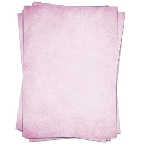 50 Blatt Briefpapier (A4)   Vintage Retro rosa   Motivpapier   edles Design Papier   beidseitig bedruckt   Bastelpapier   90 g/m²