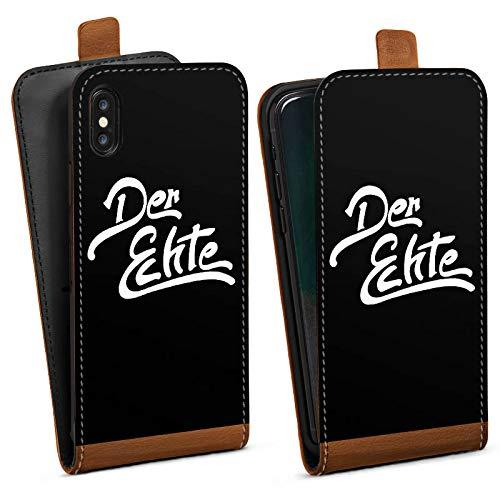 DeinDesign Tasche kompatibel mit Apple iPhone XS Flip Case Hülle ApoRed Merchandise Fanartikel Youtuber