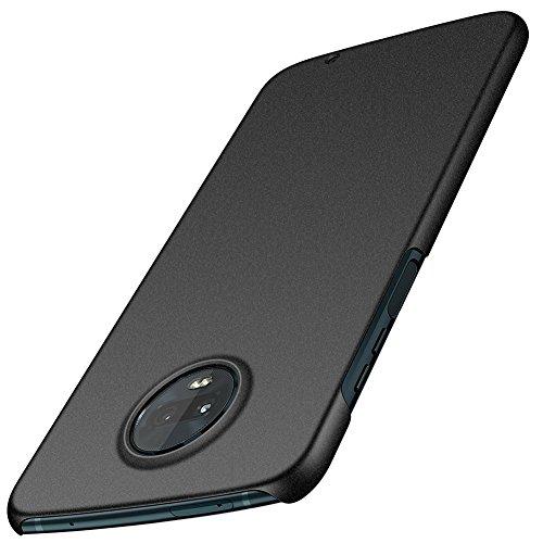 ORNARTO Moto Z3 Play Case,Z3 Case,Thin Fit Shell Premium Hard Plastic Matte Finish Non Slip Full Protective Anti-Scratch Cover Cases for Motorola Z3/Z3 Play(2018) 6.0 Black