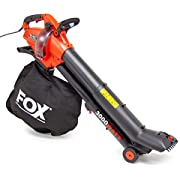 Fox 4in1 Leaf Blower Vacuum 3000w Garden Shredder Vac 45L with Telescopic Tube and Macerating Blades