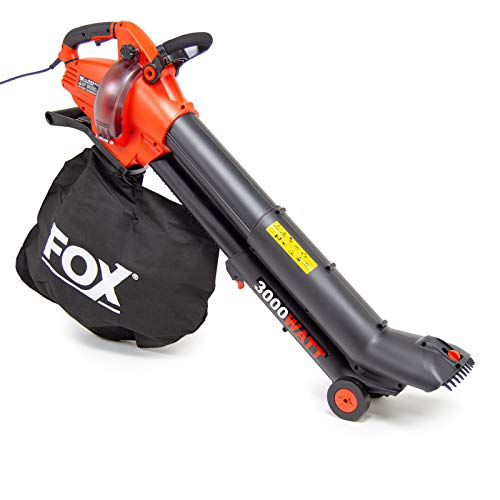 Photo of Fox 4in1 Leaf Blower Vacuum 3000w Garden Shredder Vac 45L with Telescopic Tube and Macerating Blades