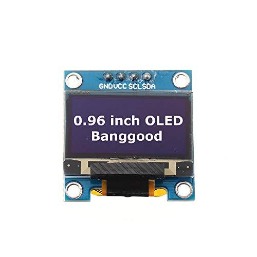 PULLEY -L 5 Stück Weiß 2,4 cm OLED I2C IIC Kommunikations-Display 128 x 64 LCD Modul für Arduino L