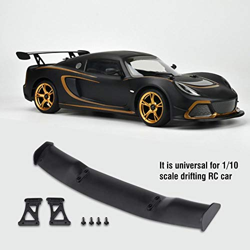 Dilwe Simulation Universal Heckflügel, Modell Zubehör Kunststoff Heckflügel Dekoration für 1/10 Skala RC Auto Treiben