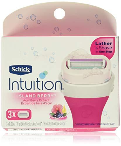 Schick Intuition Island Berry Lot de 3 recharges de rasoir pour femme avec extrait de baie d'açaï