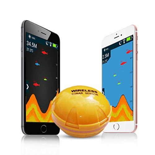 OD-B Kabelloser Bluetooth-Echolot-Fischfinder, Intelligenter Wassertiefenfinder, Echolot-Fischfinder Für Ios Und Android, Seefisch Erkennt Fanggeräte