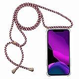 2ndSpring Funda con Cuerda Compatible con Huawei Nova 3i/P Smart Plus,Colgante Collar Correa de...
