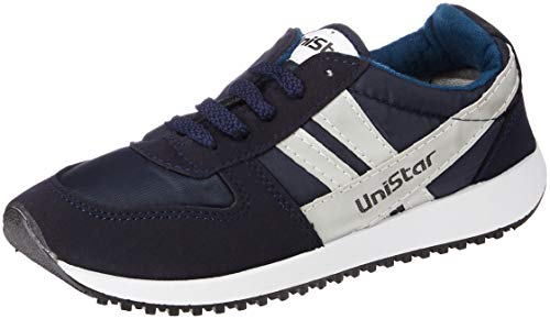 Unistar Men's Blue Sneakers-10 UK (44 EU) (032-10-Blue)