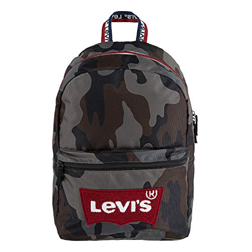 Levi's Kids' Classic Logo Backpack, Camo/Red, O/S