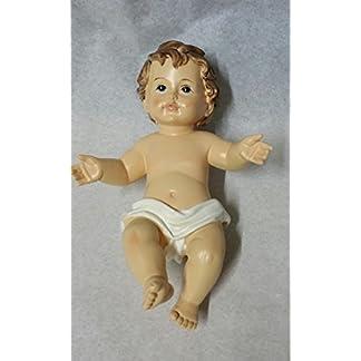 Punto Casa – Figura de Niño Jesús para pesebre de Belén.Longitud: 15 cm.Ancho: 10,5 cm.