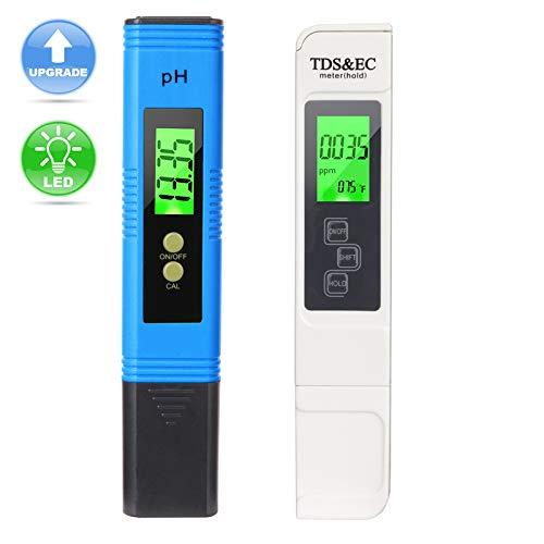 Lightswim Wasserqualitätstest Messgerät TDS PH EC Temperatur 4 in 1 Set (Blau)