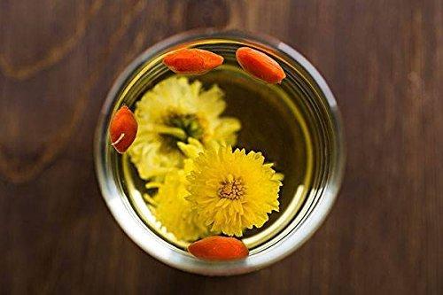 Tristana Chrysantheme Tee mit Goji Beere Wolfberry Lycium Barbarum mit leckeren Chrysanthemen Gelbe Chrysantheme Bud Kräutertee Chrysantheme Kräutertee, 12 Taschen x 7 Gramm