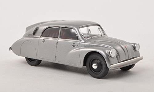 Tatra 97, metallic-grau, 1938, Modellauto, Fertigmodell, Mac Model 1 43