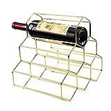 Vinotecas Botellas, Botellero Vino Pared Metal Botella Encimera Almacenamiento 6 Botellas, Encimera Libre-sostenedor Del Soporte De Almacenamiento Del Vino, Encimera Con Patas Almacenaje Del Vino De O