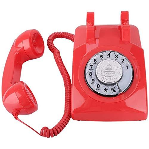 VERDELZ Teléfono Fijo Fijo Teléfono De Marcación Giratoria Vintage Retro Fijo para Hotel Family Office Telefono Fijo para Casa Telefon Haus Telefonillo Portero