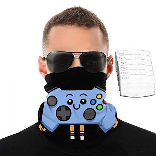 Lhgs5sv Control-Pad Unisex Face Cover Bandanas Headwear Neck Gaiter Balaclava with 6 Filter