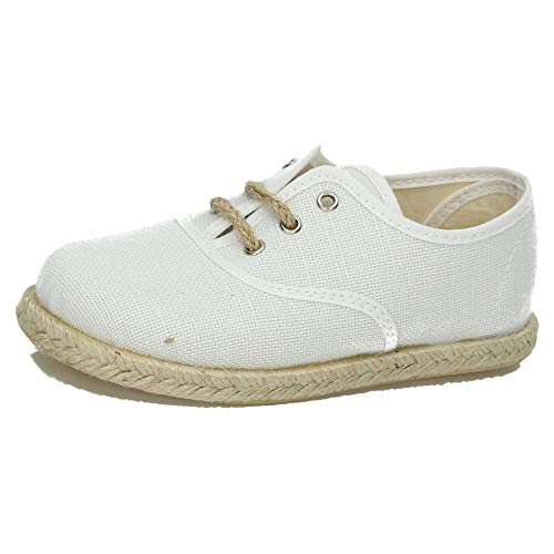 MADE IN SPAIN 260/L ESPARTEÑAS DE Lona NIÑO Zapatillas Blanco 27