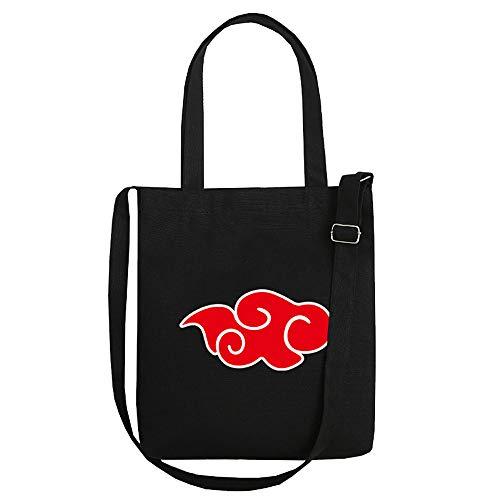 Anime Drucken Naruto Tragetasche Einkaufstasche Damen Handtasche Einkaufstasche Shopper Tasche Umhängetasche Strandtasche Schultertasche Tote Shopper