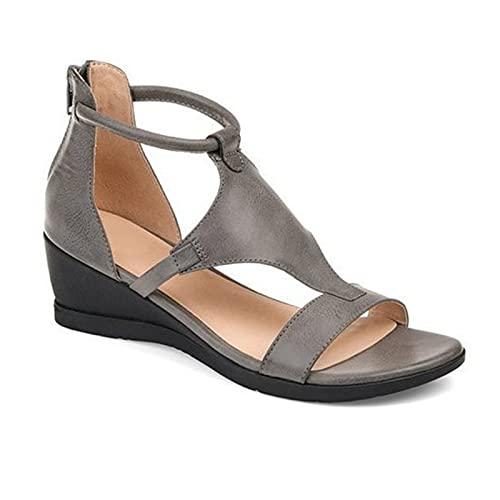 Qingxin Sandalias de mujer Comfort Slides Zapatos de playa con hebilla de diseño de verano para exteriores