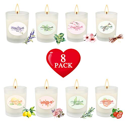 Scented Candle Sets,Gifts for Women,Stress Relief Aromatherapy Candles,Luxury Essential Oil Soy Candles,Candle for Bath Spa Meditation,Relaxation Gift for Christmas