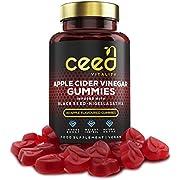 CEED Vitality Apple Cider Vinegar Gummies with Black Seed | Vitamin B12 | 1000mg Vegan Unfiltered Gummies with Mother | 60 Count Apple Flavored Gummies for Balanced Immunity and Weight Loss