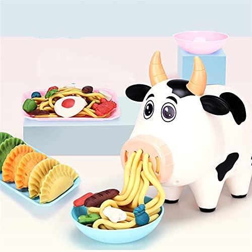 Plasticine NoodleMachine Ensemble d'argile colorée pour enfants DIY plastifiant mayeuse de nouilles de cuisine jouet de cuisine crème glacée machine de jeu de jeu d'argile fille fille fille fille joue