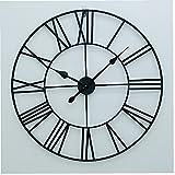 LjzlSxMF Número Romano Reloj de Pared de Hierro Negro 40cm Oficina Retro Grande de la Sala de Arte de la decoración