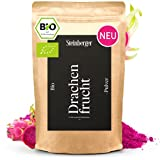 Drachenfrucht Pulver Bio 100g ideal für Smoothie Bowl | Drachenfrucht gefriergetrocknet u. fein vermahlen | Fruchtpulver bio 100% Organic reich an Ballaststoffen vegan