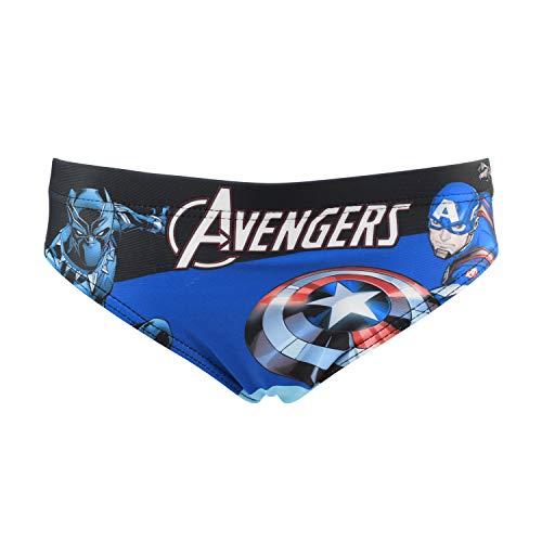 Characters Cartoons Marvel Avengers – Bañador para niño – Bañador tipo bóxer, braguita parisino, playa, piscina, primavera y verano – Licencia oficial 1893 Azul 8 años