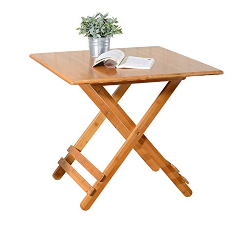 YShop Table Pliante carrée, Table de Salle à Manger à la Maison extérieure, Table Pliante portative for Pique-Nique, Table de Jeu, Bureau Pliable avec Carte (Size : 70cm)