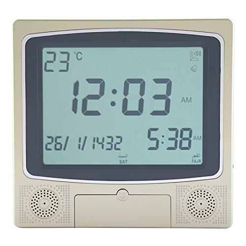 Garosa Islamischer Azan-Wecker-automatischer moslemischer Moschee-digitaler Gebet-Zeit-Tisch-Schreibtisch-Uhr-Erinnerungsalarm mit LCD-Anzeige für Haus, Masjid, Ramadan-Geschenk