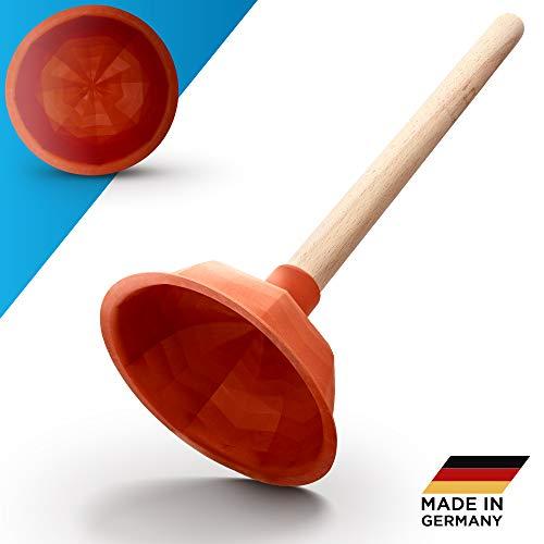 Abrush Pömpel für Toilette, Dusche & Küche | 140mm Abflussreiniger (Made in Germany) | Universal-Saugglocke für jeden Abfluss | Ausgussreiniger Pümpel aus Gummi | Abflussreiniger Pumpe