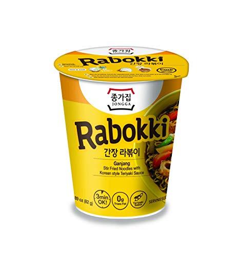 Jongga Rabokki - Koreanische Instant-Nudeln- Ganjang 82 g (24 PACK)