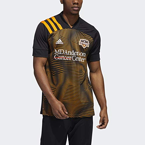 addias 2020-21 Houston Dynamo Away Jersey - Black-Orange XL