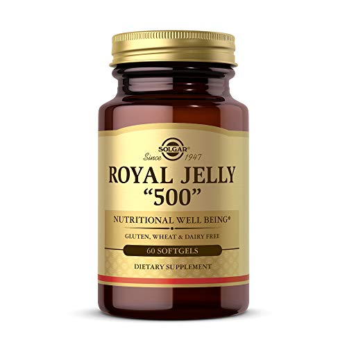 Solgar Royal Jelly '500', 60 Softgels - Nutritional Well Being - Natural Source of Vitamins,...