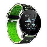Smartwatch Pulsera Inteligente de Frecuencia Cardíaca con Pantalla Táctil de Alta Definición IP67 Smartwatch Reloj Deportivo Multifitness Impermeable C Claro