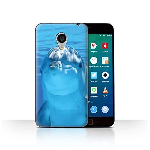 Stuff4® Hülle/Hülle für Meizu MX4 Pro/Unterwasser Lächeln Muster/Delfine Meereslebens Kollektion