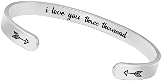 BTYSUN Inspirational Bracelets for Women Girls Birthday Gifts Men Cuff Bangle Friendship Mantra Jewelry Come Gift Box