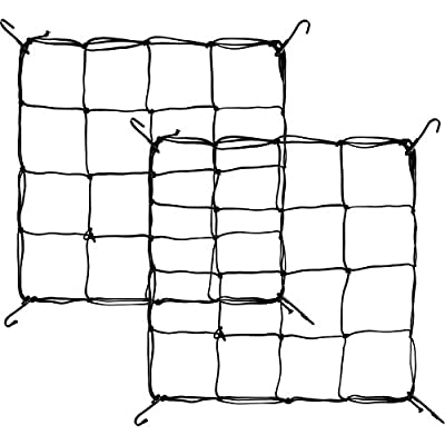 Shappy 2 Pieces Flexible Net Trellis for Grow Plant Tents, Grow Plant Tent Net Elastic Trellis Netting with Hooks (1.3 x 1.3 Feet to 2 x 2 Feet)