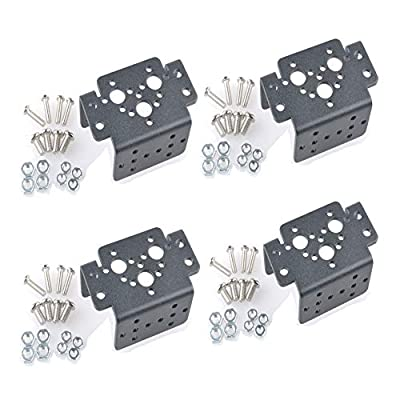 4 pcs Aluminum Multifunction Servo Bracket Steering Head Robot Manipulator for MG995 MG996R S3003