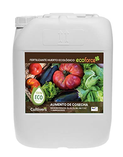 CULTIVERS ECO10F00203 - Fertilizzante Liquido per Orto Biologico, Concime Vegetale 100% Biologico e Naturale Gusto Migliore, qualità Superiore, Aumento della Crescita e Aumento del Raccolto, 20 L