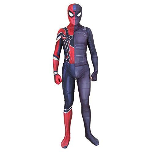 Spider-Man Cosplay Original Spider Man Iron Spider Suit Disfraces de Cosplay Adultos/Nios Estilo 3D Unisex Lycra Spandex Zentai-Kids-XS