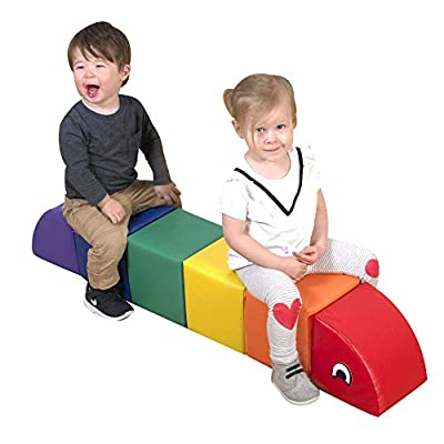 Children's Factory Momma Inchworm Foam Climber, Soft Play Equipment, Kids Climbing Toys, Toddler Indoor Crawling Toy for Daycare/Homeschool/Playroom