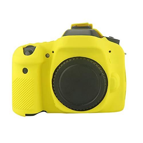 HSKB Beschermhoes voor Canon 80d Camera/Bumper Case/Protective Cover/Shell/Antislip, geel