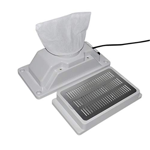 Aspiradora de uñas escritorio Colector de polvo de uñas Mesa empotrada Eléctrico...