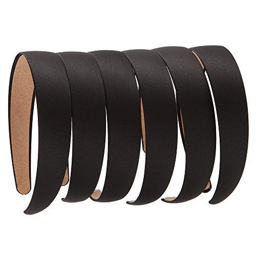 LONEEDY 6 PCS Hard Headbands, 1 Inch Wide Non-slip Ribbon Hairband for Women