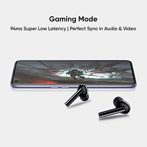 (Renewed) realme Buds Air Pro ANC TWS Earphones (Black) | Bluetooth v5.0 | 25-Hour Playback | Touch Controls | Bass Boost+ | Wear Detection & IWP