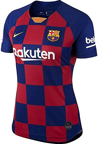 NIKE FCB W Nk BRT Stad JSY SS Hm Camiseta, Mujer, Deep...