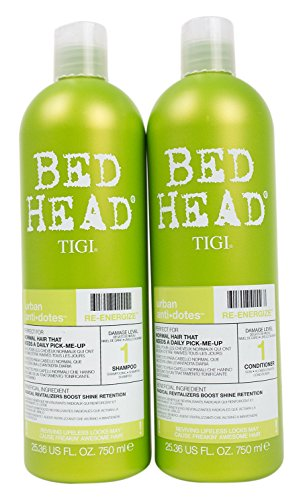 Bed Head Shampoo and Conditioner, Urban Antidotes Re-Energize, 25.36 Fluid Ounce