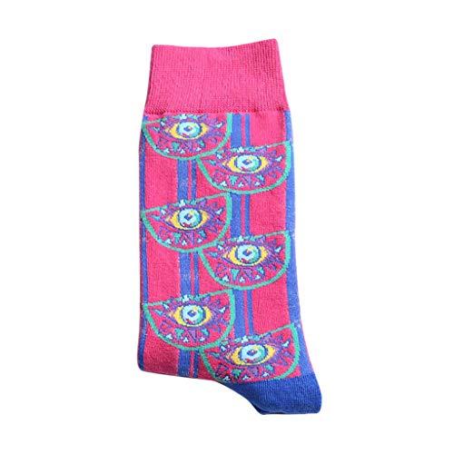 Jfhrfged Damen-Socken im Brillant-Print mit kreativen Farben in den Socken Casual Baumwolle, Anguria Rossa, Einheitsgröße
